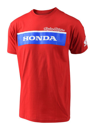 TLD 2018 Honda wing block tee red