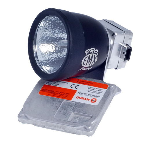 EMX Helmet Light Kit Pro 45W, w.14V Battery & Charger